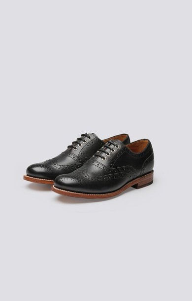 Rose Brogue Black