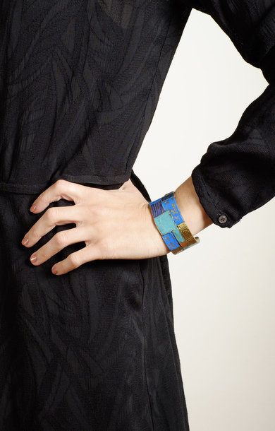 Brass Patchwork Bangle