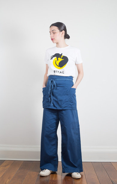 Cotton Twill Garden Pants Navy