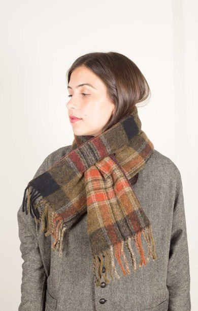 Country Woolcheck x Tweed KESA Scarf