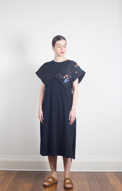 Jersey Monaka Dress Black