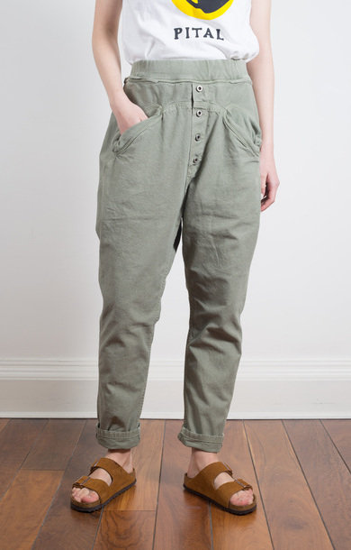 Light Canvas Sarouel Nouvelle Pants Khaki