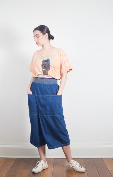 Makanai Wrap Pants Denim