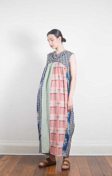 Patchwork Balloon Lantern Dress