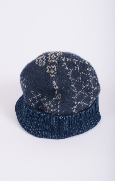 Patchwork Knit Cap Navy