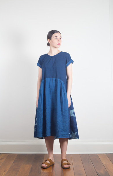 Star Dye Aurora Dress Indigo