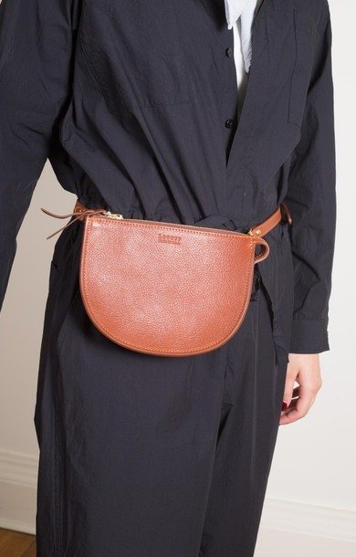 Mini Luna Belt Bag Saddle Tan/Natural