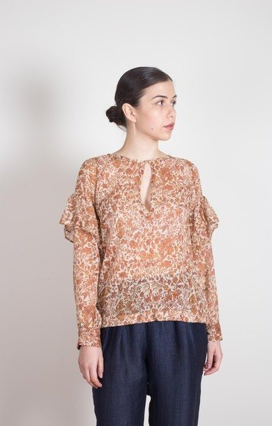 Cotton Frill Blouse Terra