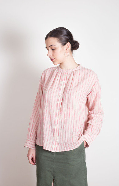 Cotton Shirt Rose Stripe