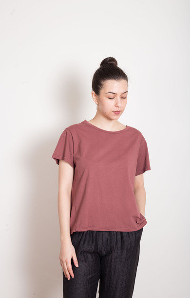 Plum Cotton T-Shirt