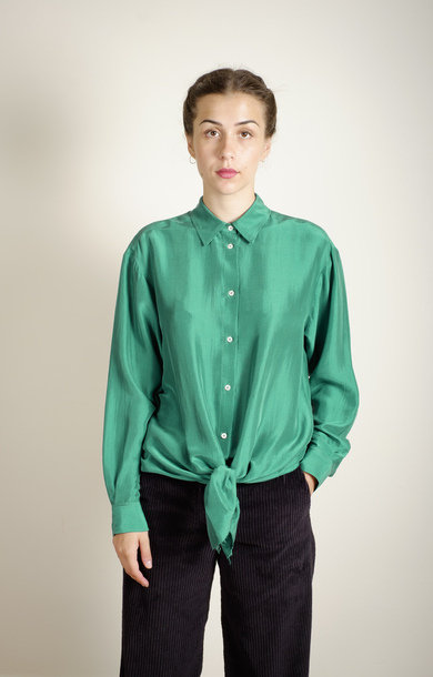 Silk Shirt Emerald