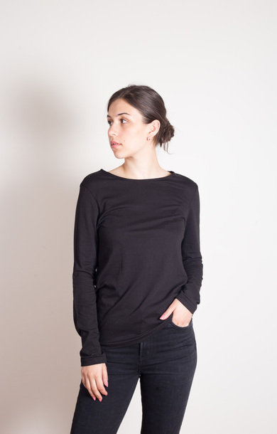 Boyfriend Crew Long Sleeved Black