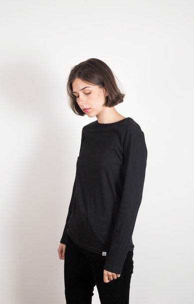 Boyfriend Crew Long Sleeve Organic Deep