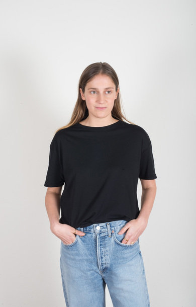 Loose Crew Neck T-shirt Black