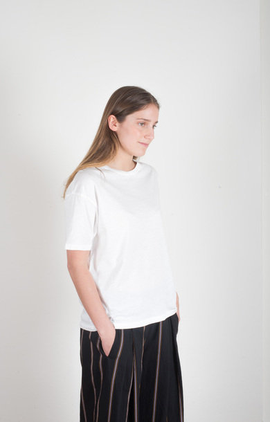 Loose Crew Neck T-shirt White