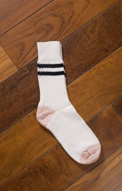 Retro Sports Socks Striped White/Black