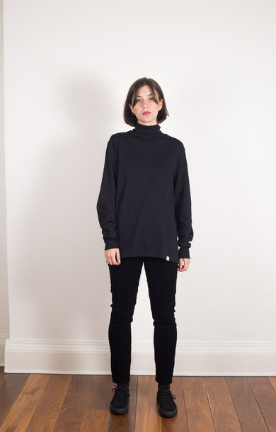Turtleneck Long Sleeve Organic Deep Black