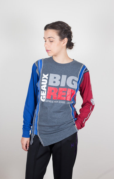 7 Cuts L/S Tee College Big Red XS