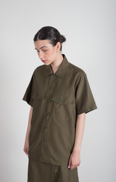 Army Shirt T/C Back Sateen Olive