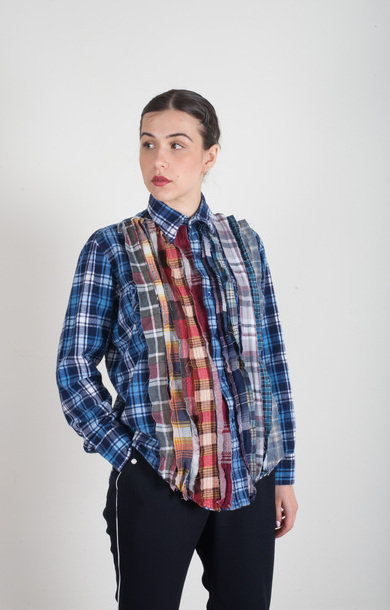 Flannel Ribbon Shirt Assorted M