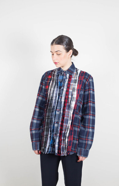 Flannel Ribbon Shirt Assorted S