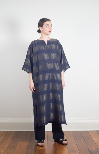 Long Tunic Jacquard Navy