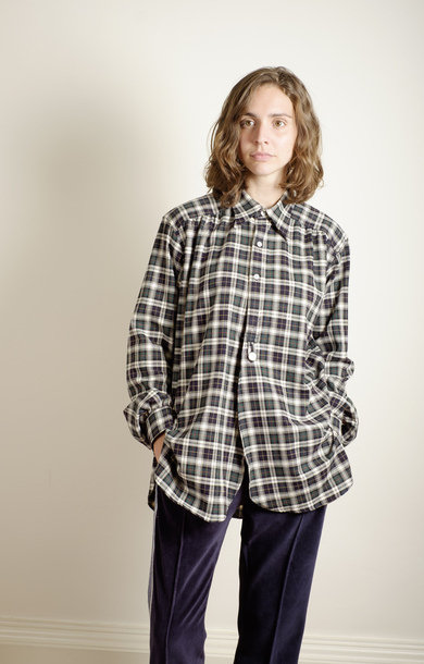 Regular Collar EDW Gather Shirt Dk Gordo
