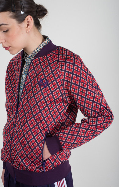 Rib Collar Track Jacket Diamond