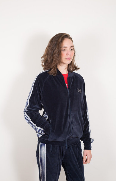 Rib Collar Track Jacket Navy