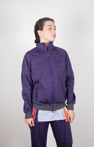 Track Jacket Poly Jacquard Diamond