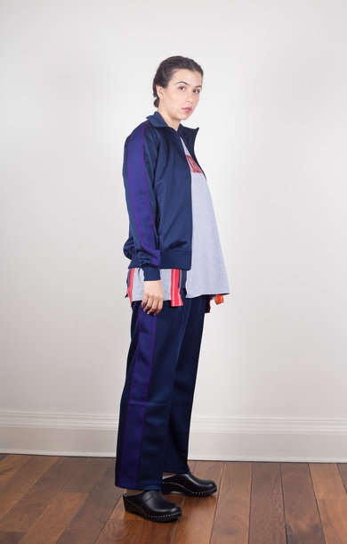 Track Jacket Poly Smooth Navy