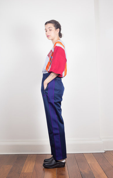 Track Pant Poly Smooth Navy