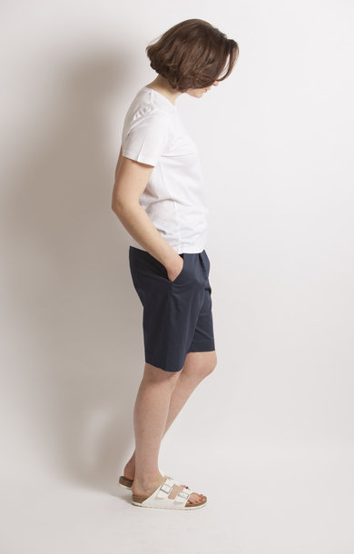Erika Shorts Cotton Stretch Navy