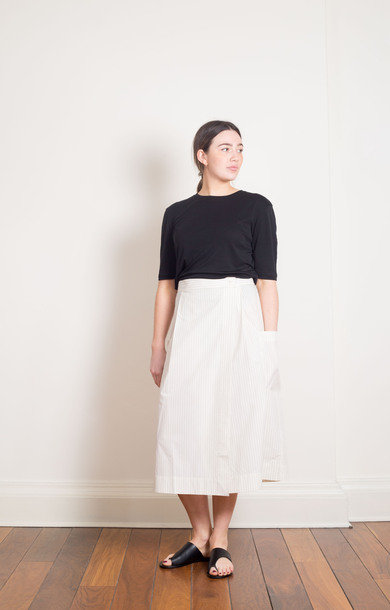 Julietta Light Cotton Skirt Ecru