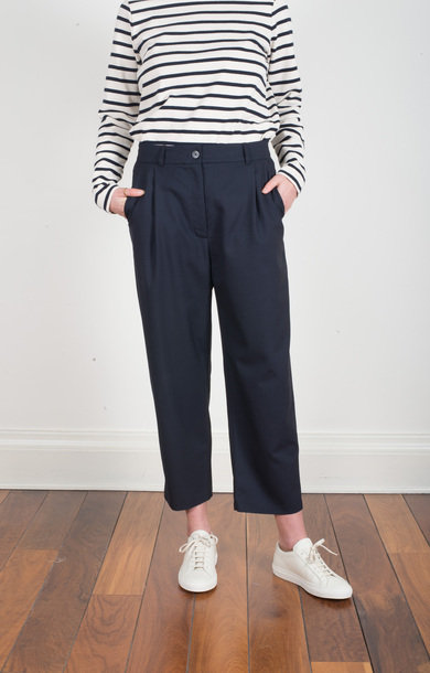 Nina Wool Trouser Dark Navy
