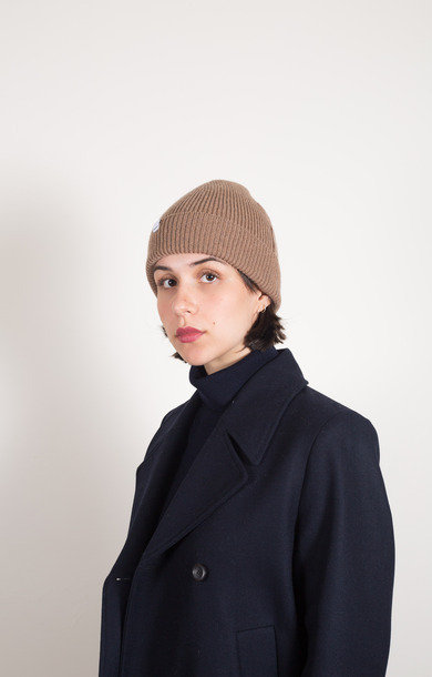 Norse Lambs Wool Beanie Camel