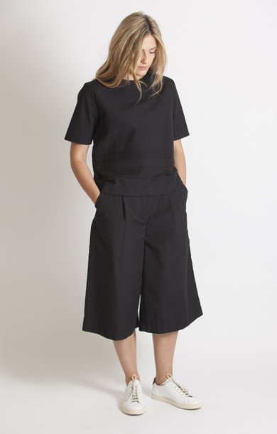 Petra Cotton Slub Back Trouser