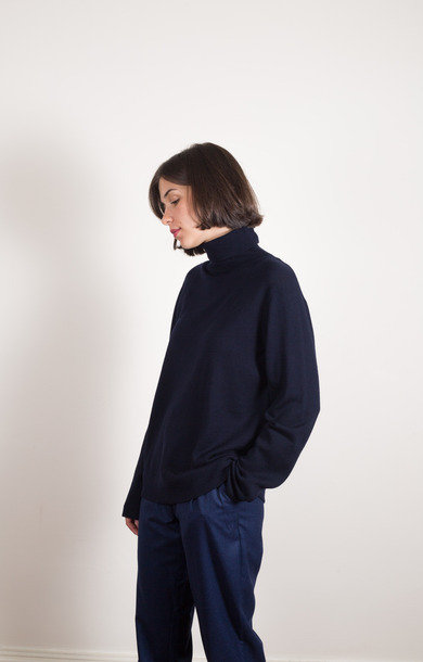 Sally Merino Dark Navy