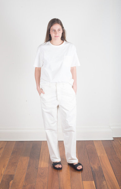 French Work Pant Ecru