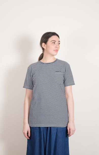 Indigo T-Shirt Stripe