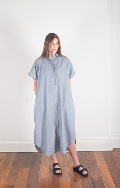 Kimono Sleeve One Piece Shirt Check