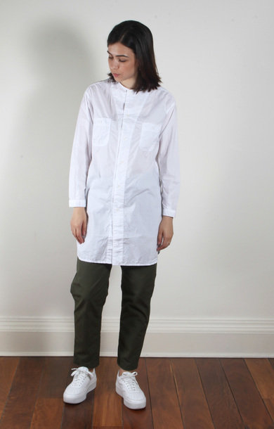 Long Work Shirt White