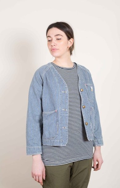 No Collar Engineer Jacket Denim