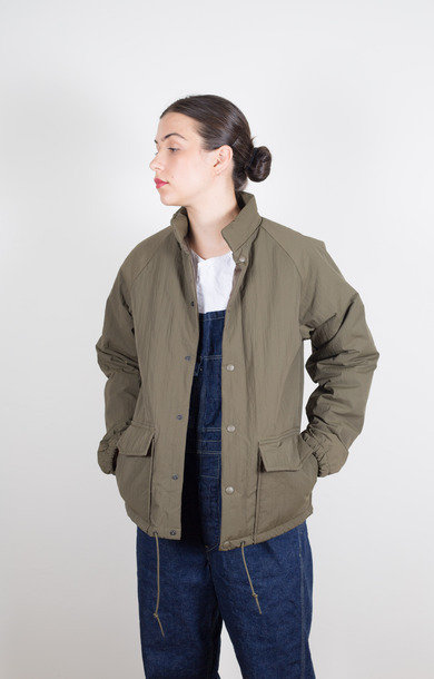 Water Repellent Puff Jacket Army