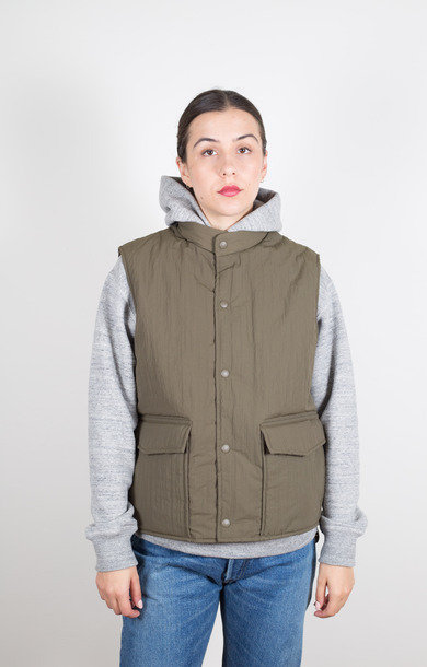 Water Repellent Puff Vest Army