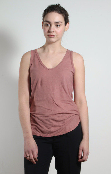 Blush Cotton and Linen Tank