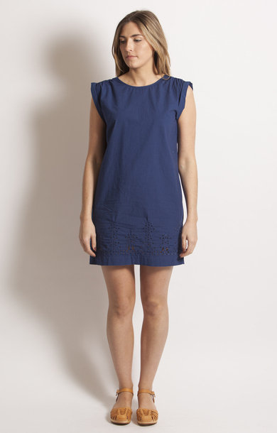Cobalt Back V Tunic Dress