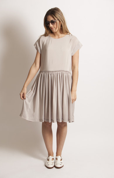 Dove Grey Flapper Dress