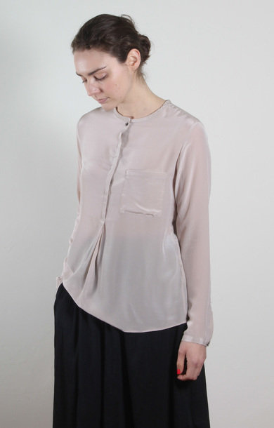 Dusky Pocket Silk Blouse