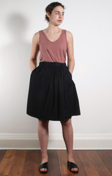 Nero Cotton Buckle Tie Skirt